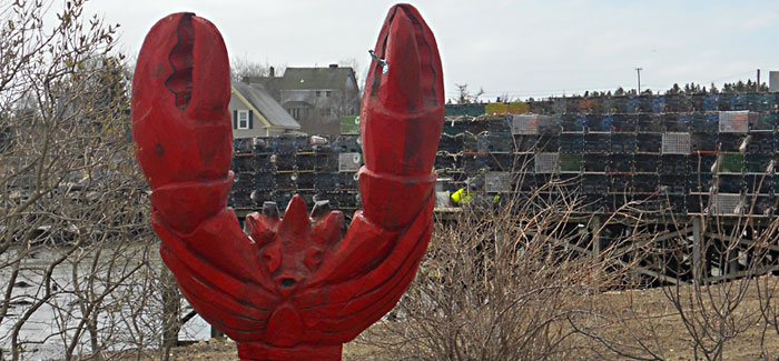 Lobster Statue on Beals Island