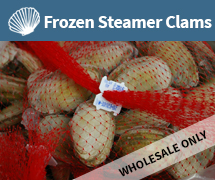 frozen steamer clams